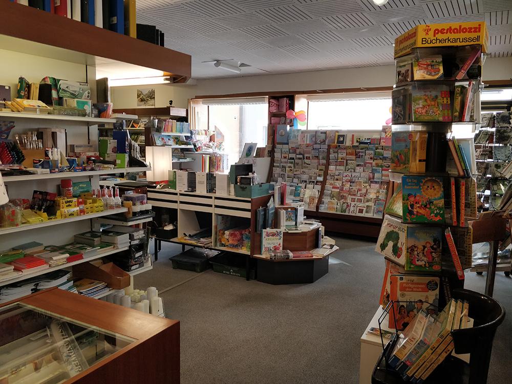 Buchhandlung Ebner von Hinten